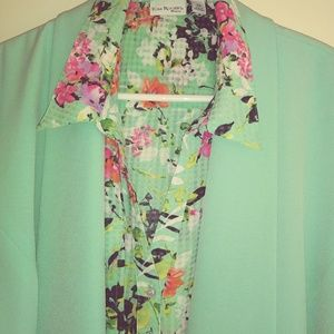 Jones studio blazer kim rogers botton down blouse